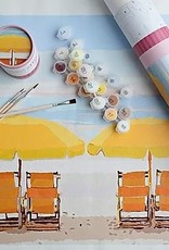 pink picasso Paint By Numbers Kit Beach Bliss