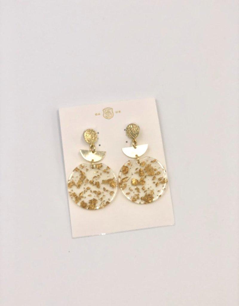 Taylor Shaye Designs Acrylic Gold Flake Drops