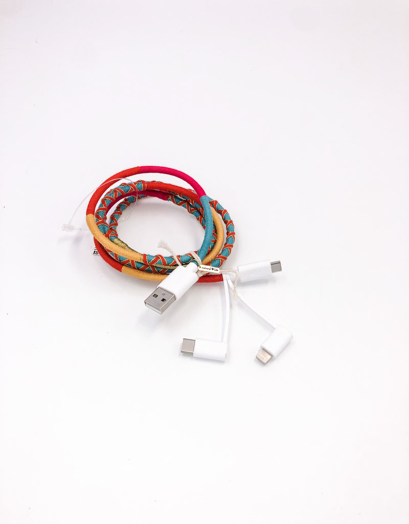 3 in 1 Charging Cord Turquoise
