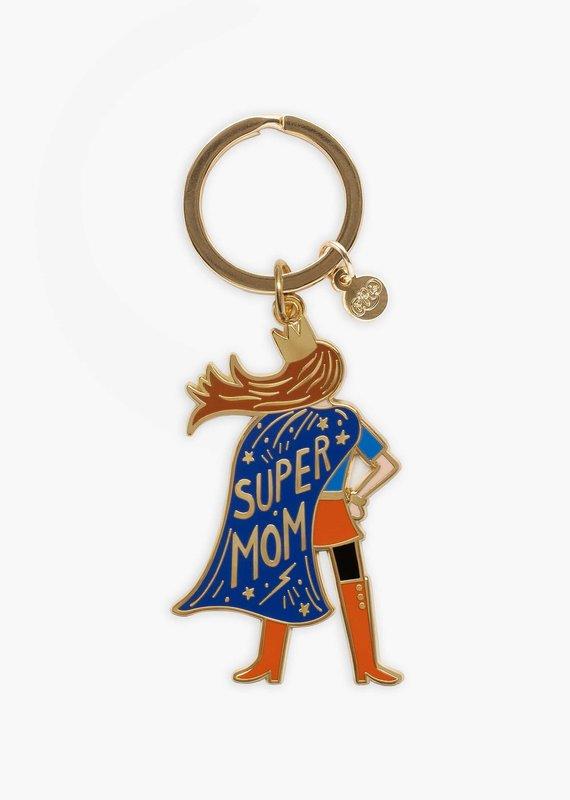 Rifle Paper Super Mom Keychain