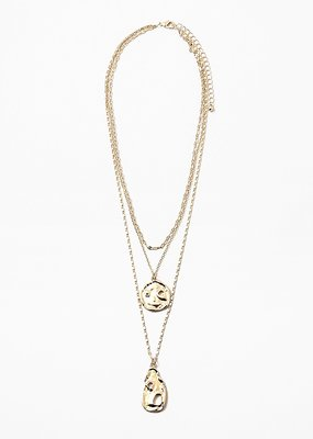 2 Coin Pendant Necklace Gold