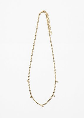 Ball Chain Necklace Gold