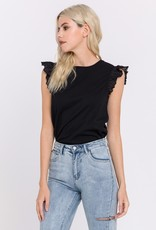 Free The Roses Eyelet Flutter Top