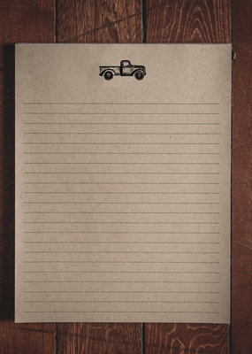 "Oak & Ink Carter Collection Large Notepad 8.5"" X 11"""