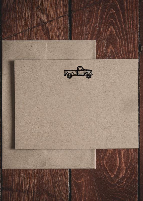Oak & Ink Carter Collection Set of 8 Flat Note Cards