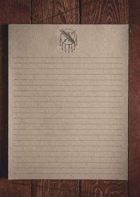 "Oak & Ink Oklahoma Collection Large Notepad 8.5"" X 11"""