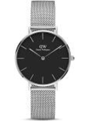 Daniel Wellington Inc. Black Sterling Watch Silver 32 mm