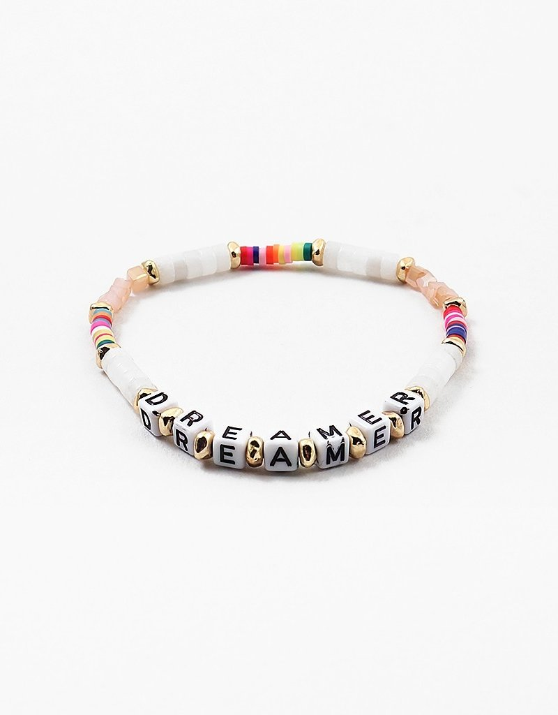 Buffalo Trading Co. Dreamer Worded Bead Bracelet