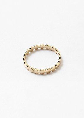 Buffalo Trading Co. Dot Band Ring Gold