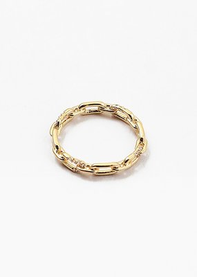 Buffalo Trading Co. Link Band Ring Gold