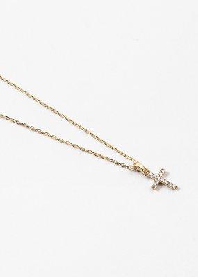 Buffalo Trading Co. Crystal Cross Necklace