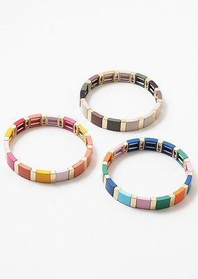 Buffalo Trading Co. Gold Lego Bead Bracelet