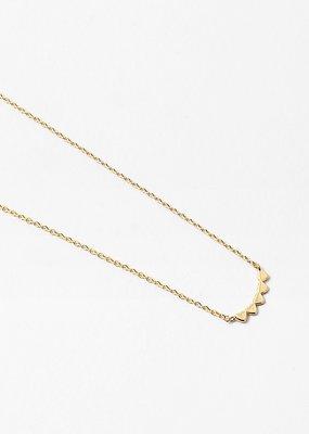 Buffalo Trading Co. 5 Hearts Necklace Gold