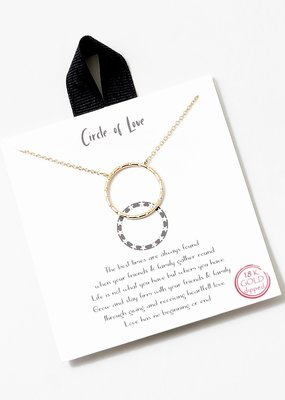 Buffalo Trading Co. Circle Of Love Necklace Gold