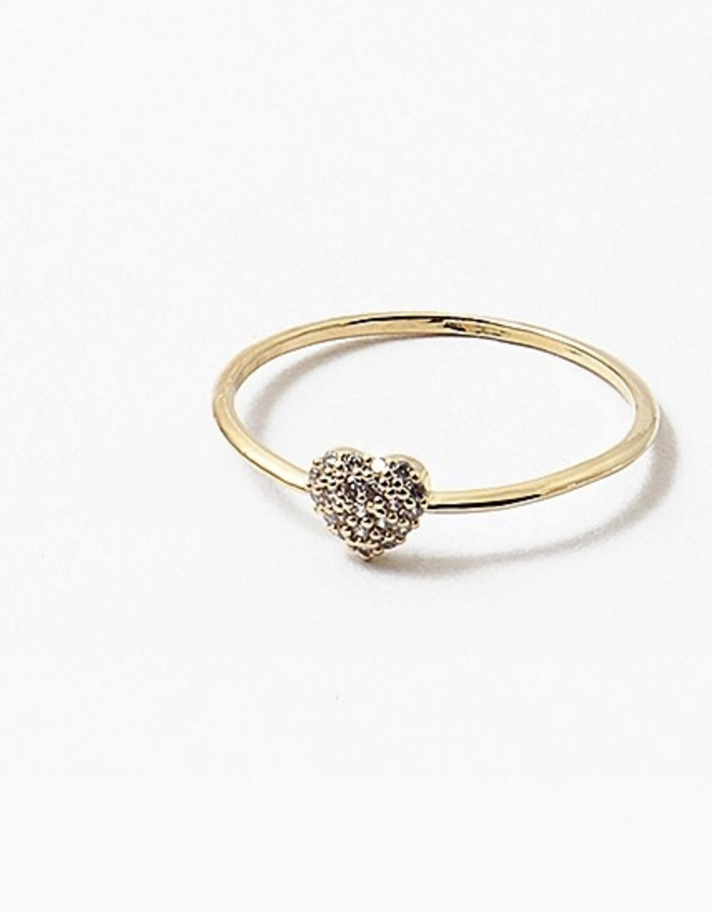 Buffalo Trading Co. Crystal Heart Ring