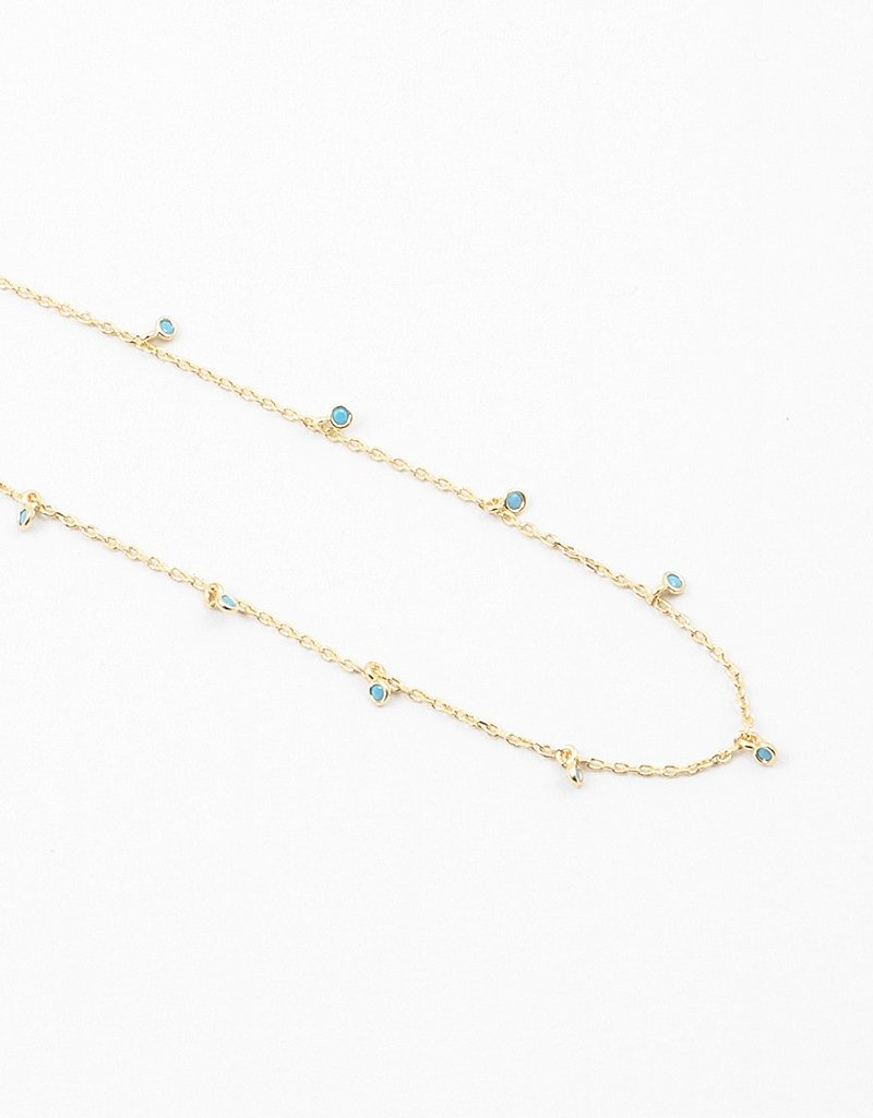 Buffalo Trading Co. Turquoise Beaded Necklace Gold