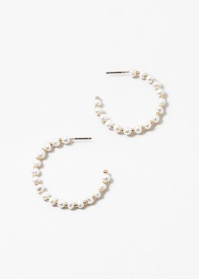 Buffalo Trading Co. Pearl Mixed Bead Hoops