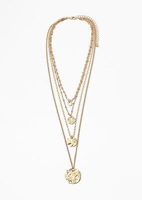 Buffalo Trading Co. 4 Coin Necklace Gold