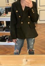 Molly Bracken Fray Hem Button Jacket