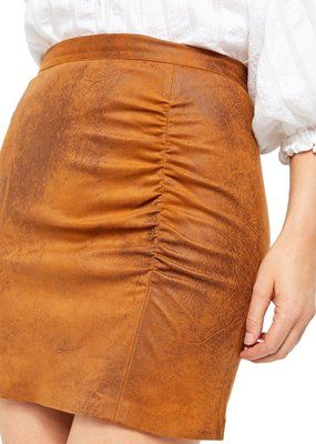 Free People Rumi Ruched Mini Skirt