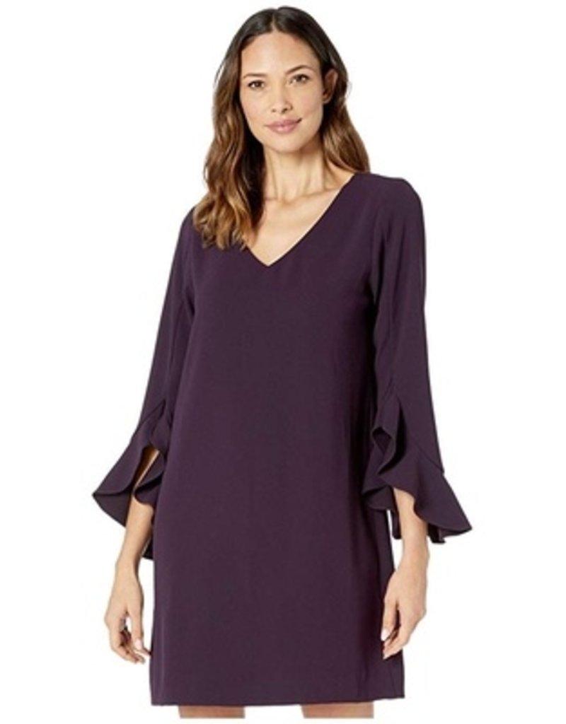 Karen Kane Ruffle Sleeve Dress