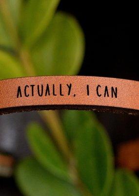 Laurel Denise Actually, I Can Brown Leather Bracelet - Standard