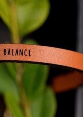 Laurel Denise Balance Brown Leather Bracelet - Standard