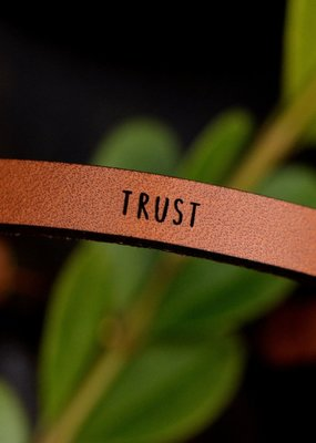Laurel Denise Trust Brown Leather Bracelet -Standard
