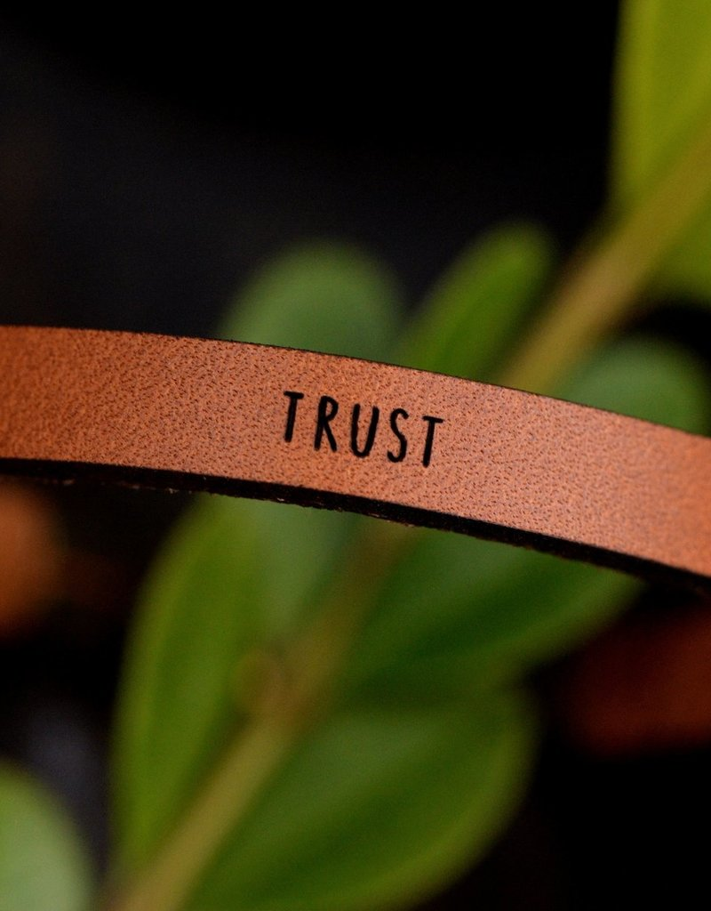 Laurel Denise Trust Brown Leather Bracelet -Standard