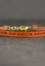Laurel Denise Be Joyful In Hope Brown Leather Bracelet - Standard