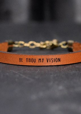 Laurel Denise Be Thou My Vision Brown Leather Bracelet - Standard