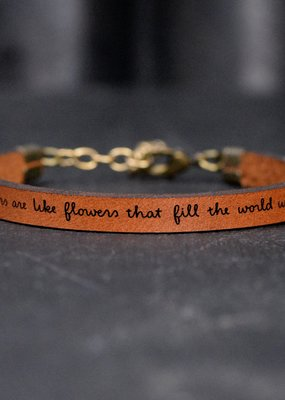 Laurel Denise Daughters Flowers Brown Leather Bracelet - Standard
