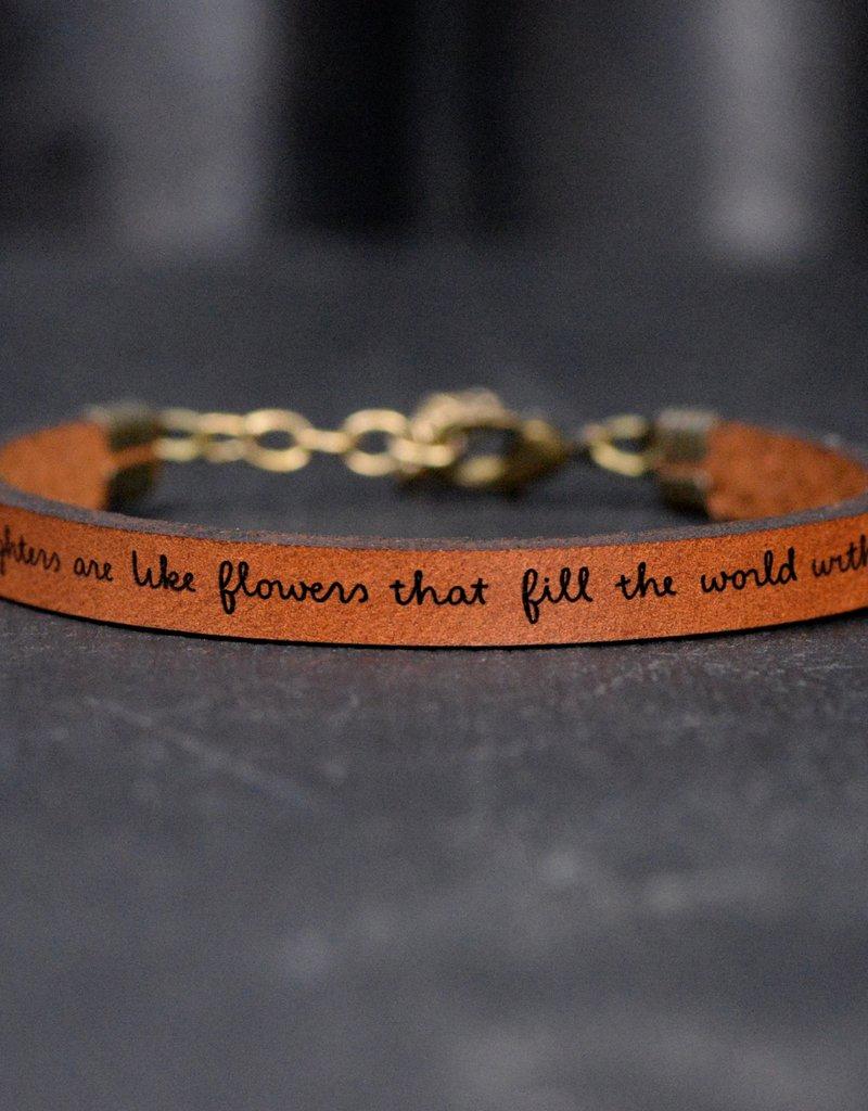 Laurel Denise Daughters Flowers Brown Leather Bracelet - Standard