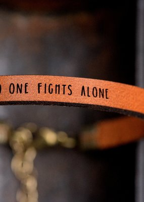 Laurel Denise No One Fights Alone Brown Leather Bracelet - Standard
