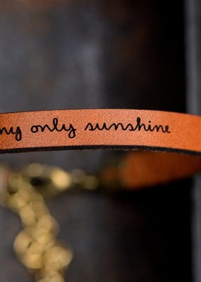 Laurel Denise My Only Sunshine Brown Leather Bracelet - Standard