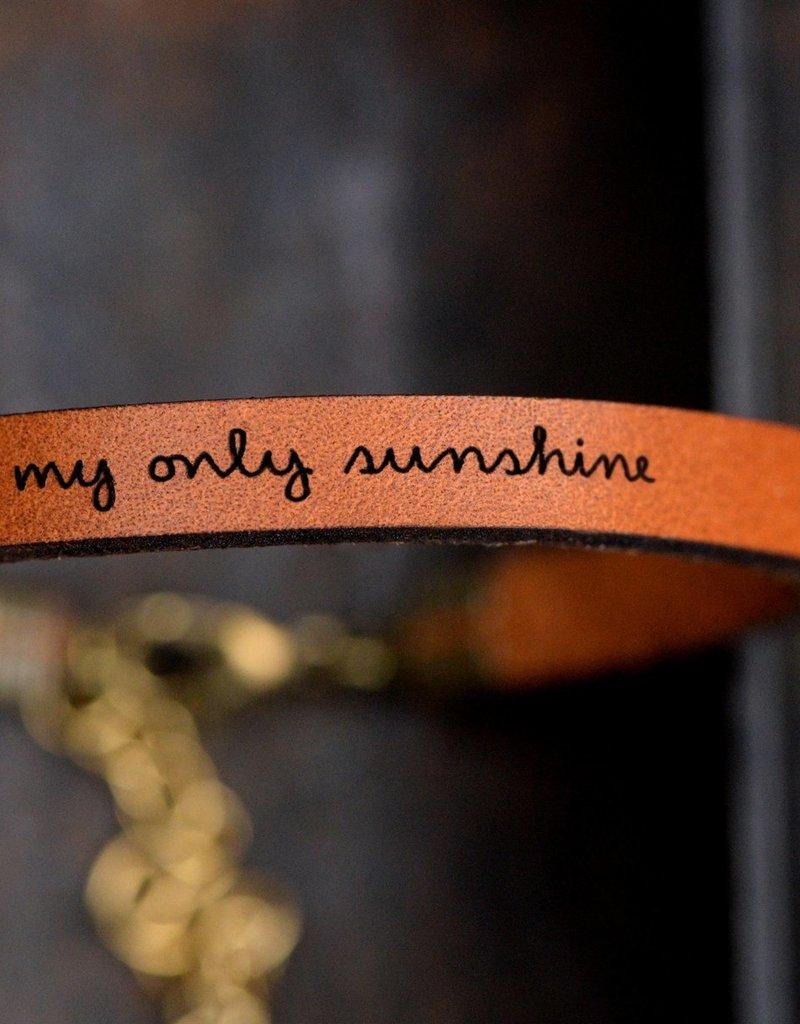 Laurel Denise My Only Sunshine Brown Leather Bracelet - Standard