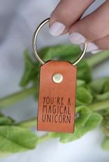Laurel Denise Magical Unicorn Leather Keychain