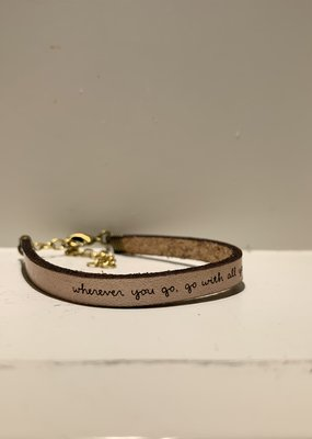 Laurel Denise Wherever You Go Rose Gold Leather Bracelet - Standard