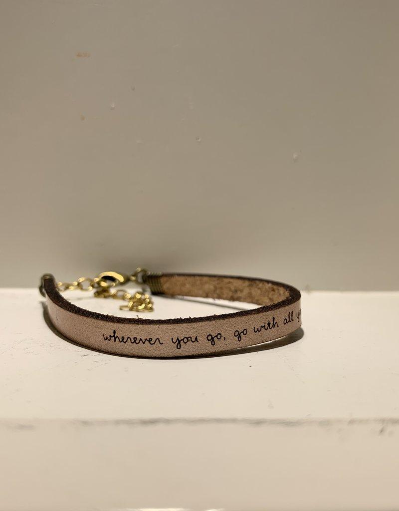 Laurel Denise Wherever You Go Rose Gold Leather Bracelet - Standard