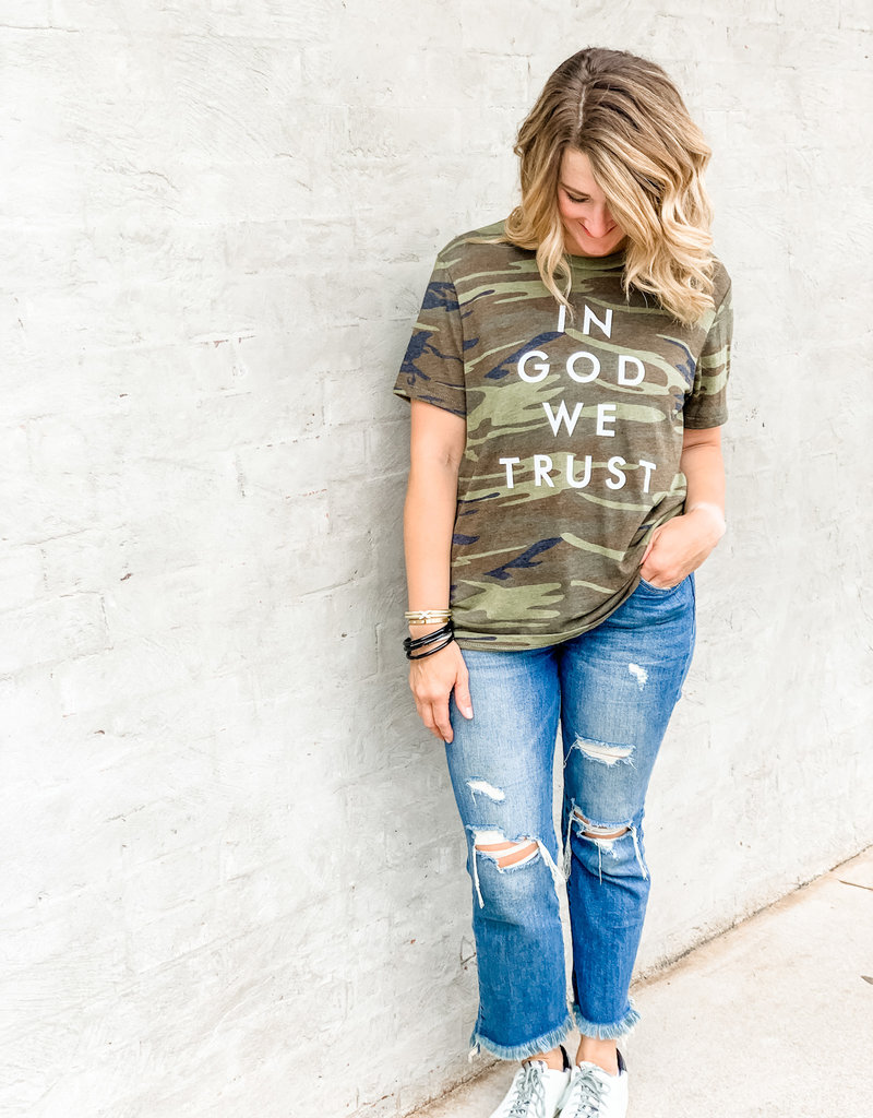 The Light Blonde In God We Trust Tee
