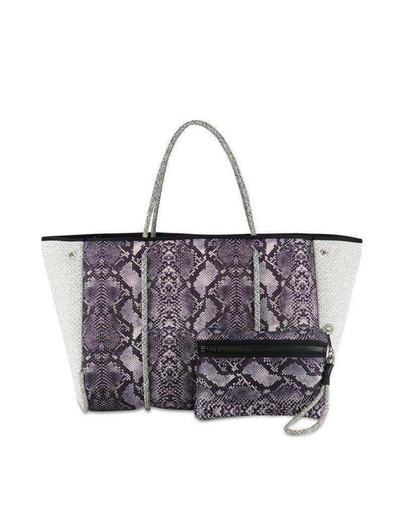 Haute Shore LTD. Greyson Rebel Handbag Gray Python/Light Gray Marled