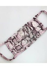 Fore Collection Snake Print Face Mask Pink/Grey