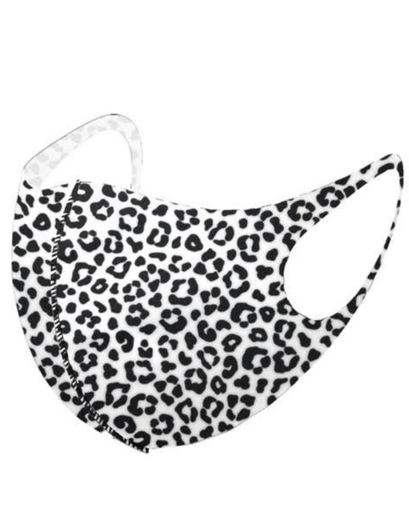 PREP Obsessed White Leopard Print Face Mask
