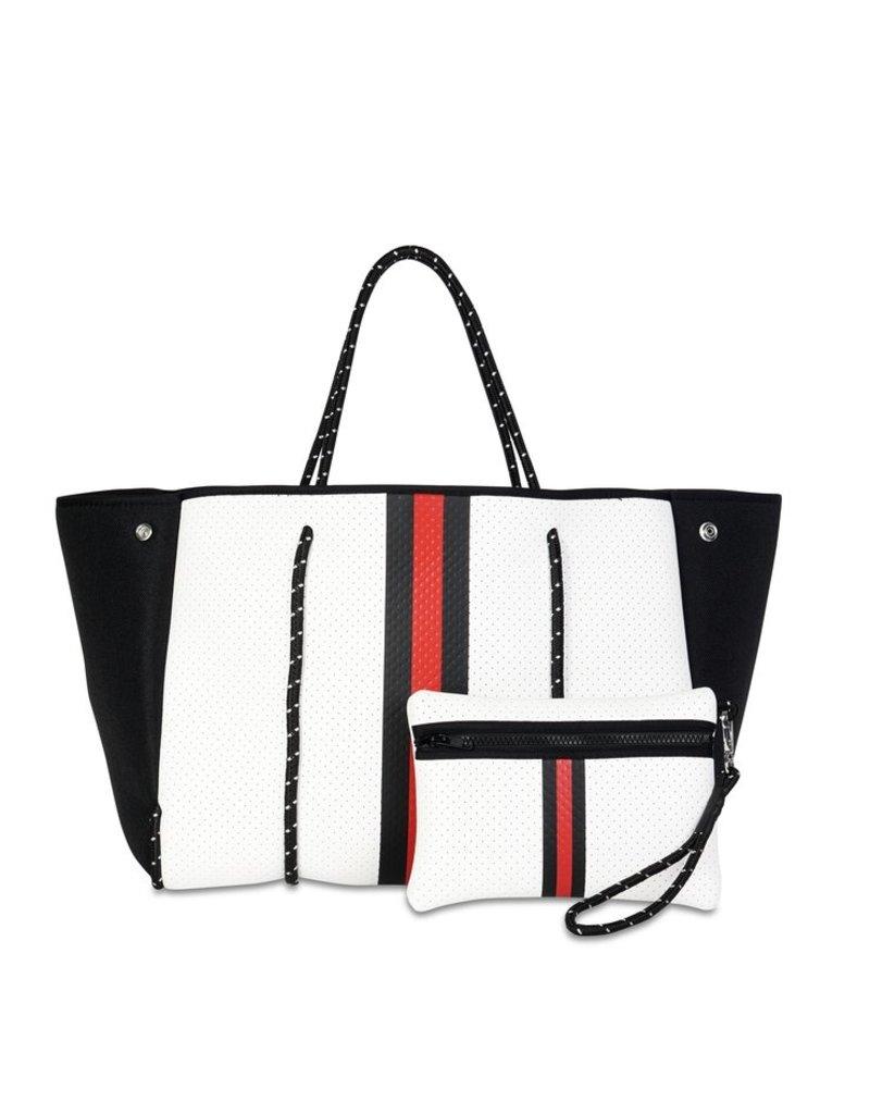 Haute Shore LTD. Greyson Madison White Coated Black Red/Black Stripe