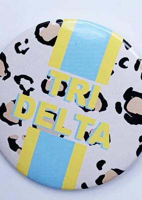 "Over the Moon Delta Delta Delta Cheetah Button 3"""