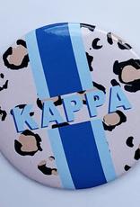"Over the Moon Kappa Kappa Gamma Cheetah Button 3"""
