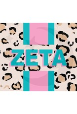 Over the Moon Zeta Tau Alpha Cheetah Flag 3'X5'