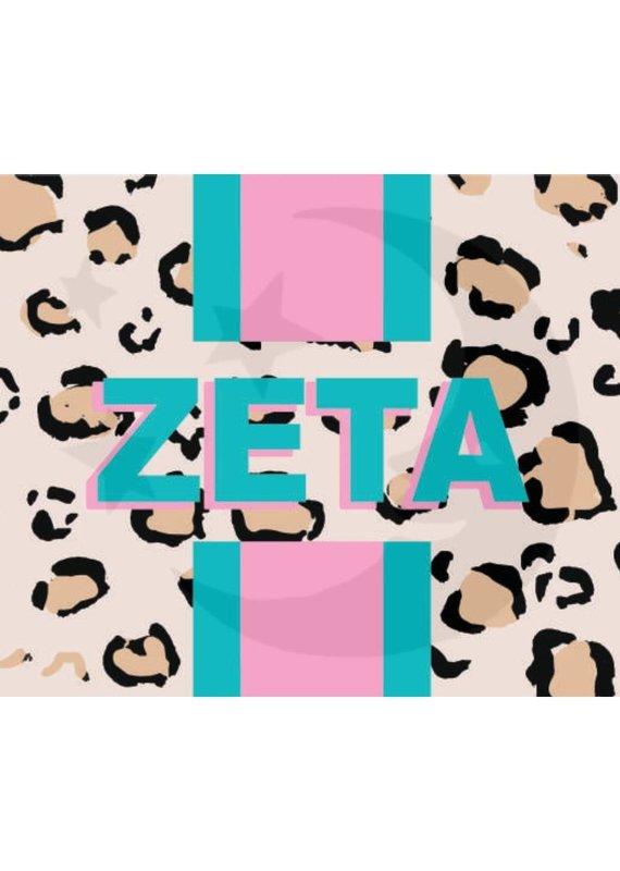 Over the Moon Zeta Tau Alpha Cheetah Flag 3'X5'