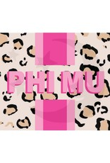 Over the Moon Phi Mu Cheetah Flag 3'X5'