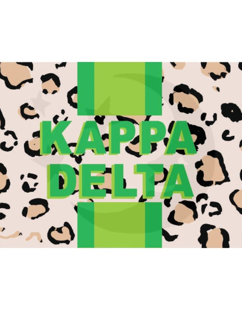 Over the Moon Kappa Delta Cheetah Flag 3'X5'